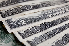 Money Pile $100 dollar bills Stock Images