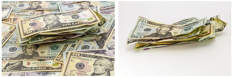 Money pile crumpled cash wallpaper  Stock Photos