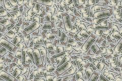 Money Pile 100 dollar bills Stock Photography