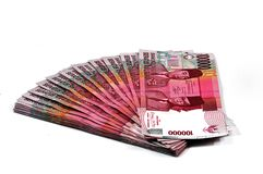 Money Pile Rp.100.000 rupiah. Royalty Free Stock Photography