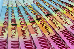 Money Pile Rp.100.000 rupiah. Piles of banknotes Indonesia 100,000 rupiah,, close up Royalty Free Stock Images