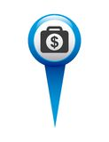money in pin location isolated icon design Stock Images