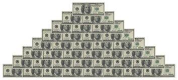 Money piramid Royalty Free Stock Photography
