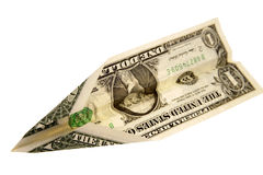 Money plane Royalty Free Stock Photos