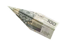 Money plane Royalty Free Stock Photos