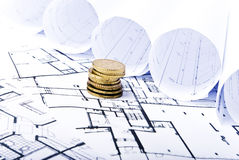 Money plans Royalty Free Stock Images