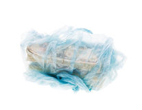 Money in plastic bag Royalty Free Stock Photography