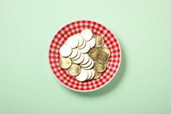 Money on plate Royalty Free Stock Photos