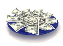 Money on a plate Royalty Free Stock Images