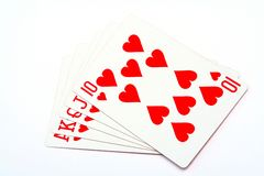 Money playing cards stock photography