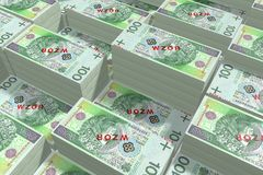 Money - 100 PLN - polish zloty Royalty Free Stock Photo