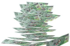 Money - 100 PLN - polish zloty. 100 PLN - polish currency - 3D image on white background Royalty Free Stock Image
