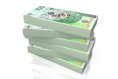 Money - 100 PLN - polish zloty Stock Photos