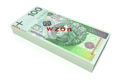 Money - 100 PLN - polish zloty Royalty Free Stock Photos
