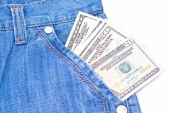 Money in pocket Stock Images