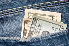 Money in a pocket Royalty Free Stock Image
