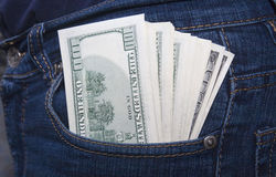 Money in a pocket Royalty Free Stock Photos