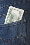 Money in a pocket Stock Photo