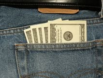 Money in the pocket Royalty Free Stock Images