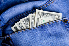 Money in the pocket Stock Photos
