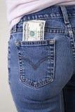 Money in the pocket Stock Photo