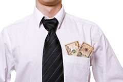 Money in a pocket Royalty Free Stock Photography