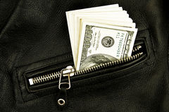 Money in  pocket. Of jacket Royalty Free Stock Images