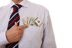 Money in the pocket Royalty Free Stock Photo