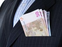 Money in pocket Stock Photo