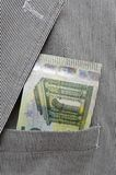 Money in pocket of suit Stock Image