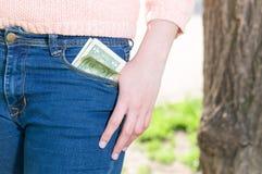 Money in pocket Stock Image