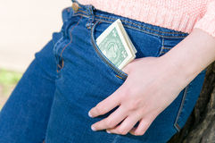 Money in pocket Royalty Free Stock Image