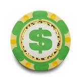 Money Poker Chip Stock Image