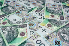 Money polish background Royalty Free Stock Image
