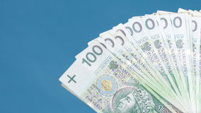 Money polish banknote Stock Photo
