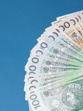 Money polish banknote Stock Photos