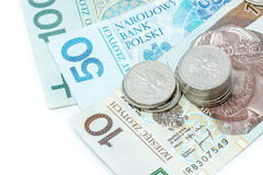 Money. Polish currency on white baccground Stock Photography