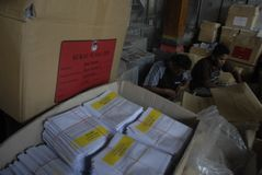 MONEY POLITICS INDONESIAN DEMOCRACY Stock Photos