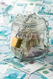Money in a pot. Royalty Free Stock Photos