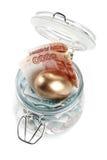Money in a pot. Royalty Free Stock Photos