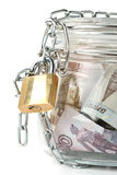 Money in a pot. Royalty Free Stock Photography