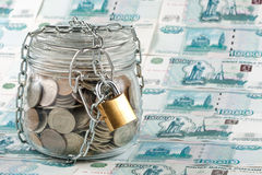 Money in a pot. Stock Photo