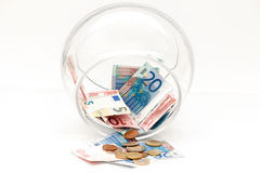 The money pot is almost empty Stock Photography