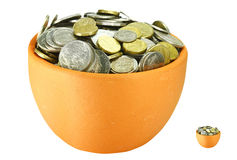 Money pots Royalty Free Stock Photos