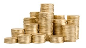 Money. Pound pile coin uk english british Royalty Free Stock Photo