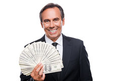 Money is a power. Stock Image