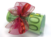 Money present Royalty Free Stock Image