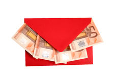 Money - Present. Digital photo of an envelope with money Stock Photography