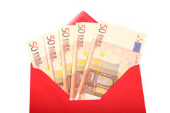 Money - Present. Digital photo of money in an envelope Royalty Free Stock Photo