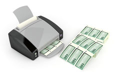Money printing Stock Photos